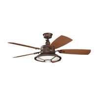 Harbour Walk Patio Weathered Copper Powder Coat with Walnut Blades Outdoor Fan