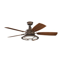Kichler 310102WCP Harbour Walk Patio Weathered Copper Powder Coat Walnut Outdoor Fan alternative photo thumbnail