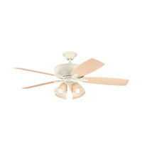 Kichler Lighting Monarch II Patio 4 Light Fan in Adobe Cream 310103ADC