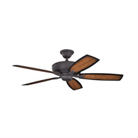 Kichler 310103DBK Monarch Ii Patio 52 inch Distressed Black with Walnut MS-97503 Blades Fan