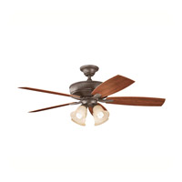 Kichler Lighting Monarch II Patio Fan in Tannery Bronze Powder Coat 310103TZP alternative photo thumbnail