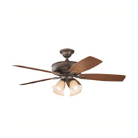 Kichler 310103WCP Monarch II Patio Weathered Copper Powder Coat with Walnut Ms-93801 Blades Outdoor Fan