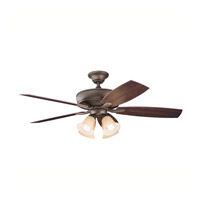 Kichler Lighting Monarch II Patio Fan in Weathered Copper Powder Coat 310103WCP