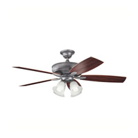 Kichler Lighting Monarch II Patio Fan in Weathered Steel Powder Coat 310103WSP alternative photo thumbnail