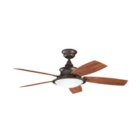 Kichler 310104TZP Cameron Tannery Bronze Powder Coat with Walnut Ms-97503 Blades Outdoor Fan