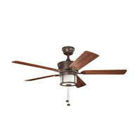 Kichler Lighting Deckard 3 Light Fan in Tannery Bronze Powder Coat 310105TZP alternative photo thumbnail