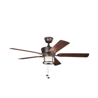 Kichler Lighting Deckard 3 Light Fan in Weathered Copper Powder Coat 310105WCP alternative photo thumbnail