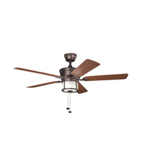 Kichler Lighting Deckard 3 Light Fan in Weathered Copper Powder Coat 310105WCP