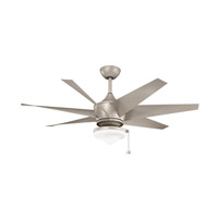 Kichler 310112ANS Lehr II 54 inch Antique Satin Silver with ANTQ STN SILVER/NON-REVERSIBLE Blades Indoor/Outdoor Ceiling Fan