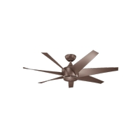 Kichler 310112CMO Lehr II 54 inch Coffee Mocha with COFFEE MOCHA/NON-REVERSIBLE Blades Indoor/Outdoor Ceiling Fan