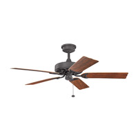 Fryst Patio 52 inch Distressed Black with Walnut Blades Ceiling Fan