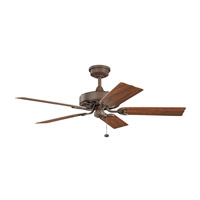 Kichler 310128TZP Fryst Patio 52 inch Tannery Bronze Powder Coat with Walnut Blades Ceiling Fan