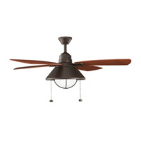 Seaside Olde Bronze Walnut Outdoor Fan