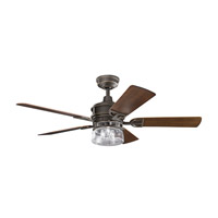Kichler 310139OZ Lyndon Patio 52 inch Olde Bronze with Dark Walnut Blades Ceiling Fan