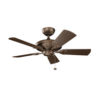 Kichler 310144WCP Kevlar 42 inch Weathered Copper Powder Coat with Brown Blades Ceiling Fan