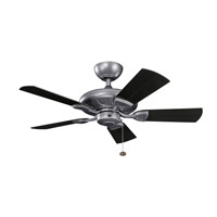 Kichler 310144WSP Kevlar 42 inch Weathered Steel Powder Coat with Satin Black Blades Ceiling Fan