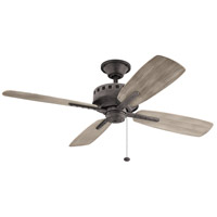 Kichler 310152WZC Eads 52 inch Weathered Zinc with Weathrd Med Oak Blades Ceiling Fan