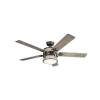 Ahrendale 60 inch Anvil Iron with Distressed Antique Grey Blades Ceiling Fan