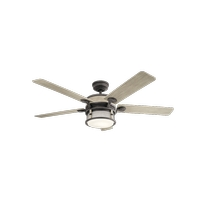 Kichler 310170WZC Ahrendale 60 inch Weathered Zinc with Weathered White Blades Ceiling Fan