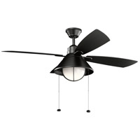 SATIN BLACK Steel Outdoor Fans