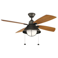 Kichler 310181OZ Seaside 52 inch Olde Bronze with Walnut Blades Ceiling Fan alternative photo thumbnail