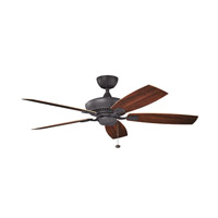 Kichler Canfield Patio Fan in Distressed Black 310192DBK