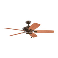 Canfield Patio Tannery Bronze Powder Coat with Walnut Blades Outdoor Fan