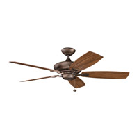 Canfield Patio Weathered Copper Powder Coat with Walnut Blades Outdoor Fan