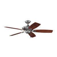 Kichler 310192WSP Canfield Patio Weathered Steel Powder Coat with Walnut Blades Outdoor Fan alternative photo thumbnail