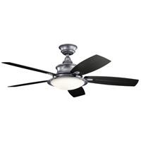 Kichler 310204WSP Cameron 52 inch Weathered Steel Powder Coat with BLACK/WETHRD WHT WLNT Blades Indoor/Outdoor Ceiling Fan