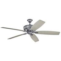 Kichler 310206WSP Monarch 70 inch Weathered Steel Powder Coat with WTHRD WHT WALNU Blades Indoor/Outdoor Ceiling Fan