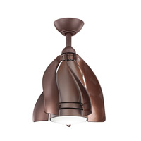 Terna 15 inch Tannery Bronze Powder Coat with Oil Brushed Bronze Blades Ceiling Fan