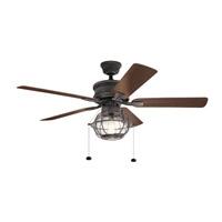 Kichler 310220WZC Tess 52 inch Weathered Zinc with Dark Walnut/Weathered White Blades Ceiling Fan