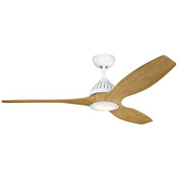 Kichler 310360WH1 Jace 60 inch White with BAMBOO Blades Indoor/Outdoor Ceiling Fan