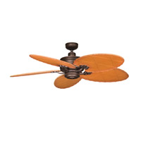 Kichler Lighting Crystal Bay Fan in Weathered Copper Powder Coat 320102WCP photo thumbnail