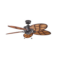 Kichler Crystal Bay Fan in Distressed Black 320510DBK