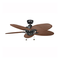 Kichler Lighting Crystal Bay Fan in Satin Black (Blades Sold Separately) 320510SBK alternative photo thumbnail
