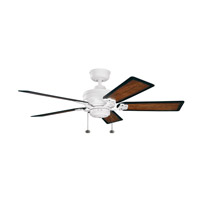 Kichler Lighting Crystal Bay Fan in Satin Natural White (Blades Sold Separately) 320510SNW