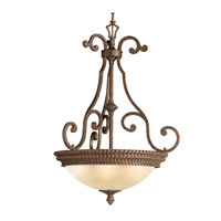 Kichler Lighting Larissa 3 Light Inverted Pendant in Tannery Bronze w/ Gold Accent 3217TZG photo thumbnail