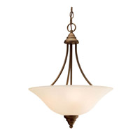 Kichler 3277OZ Telford 3 Light 18 inch Olde Bronze Inverted Pendant Ceiling Light