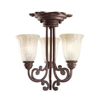 Kichler Lighting Wilton 3 Light Mini Chandelier in Carre Bronze 3289CZ alternative photo thumbnail