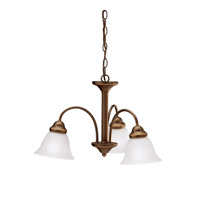 Kichler 3293OZ Wynberg 3 Light 22 inch Olde Bronze Chandelier Ceiling Light in Satin Etched Glass