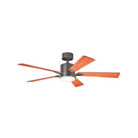 Lucian 52 inch Olde Bronze with Cherry/Walnut Blades Ceiling Fan