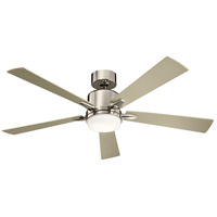 Kichler 330000PN Lucian 52 inch Polished Nickel with Black/Silver Blades Ceiling Fan