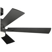 Kichler 330000SBK Lucian 52 inch Satin Black with SILVER/BLACK Blades Ceiling Fan