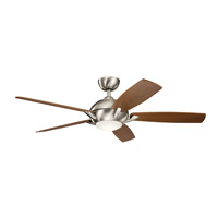 Kichler 330001BSS Geno 54 inch Brushed Stainless Steel with Walnut/Silver Blades Ceiling Fan alternative photo thumbnail