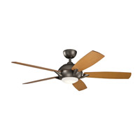 Kichler 330001OZ Geno 54 inch Olde Bronze with Walnut/Cherry Blades Ceiling Fan