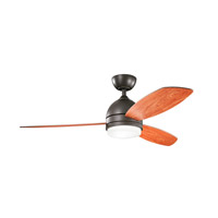 Kichler 330002OZ Vassar 52 inch Olde Bronze with Cherry/Walnut Blades Ceiling Fan