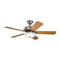 Kichler 330005AP Bentzen 52 inch Antique Pewter with Weathered White/Dark Cherry Blades Ceiling Fan