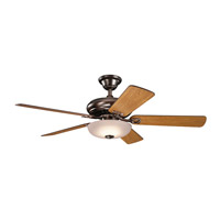 Bentzen 52 inch Oil Brushed Bronze with Medium Cherry/Dark Walnut Blades Ceiling Fan